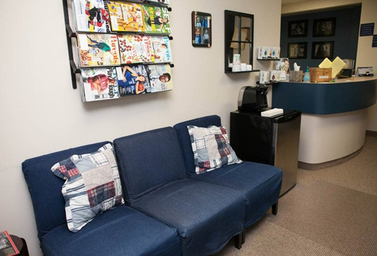 Cozy dental waiting area